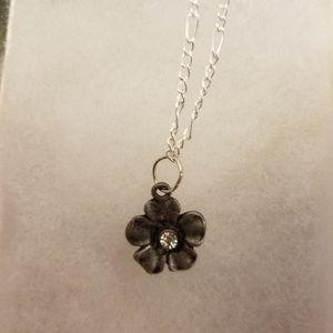 Flower on long chain